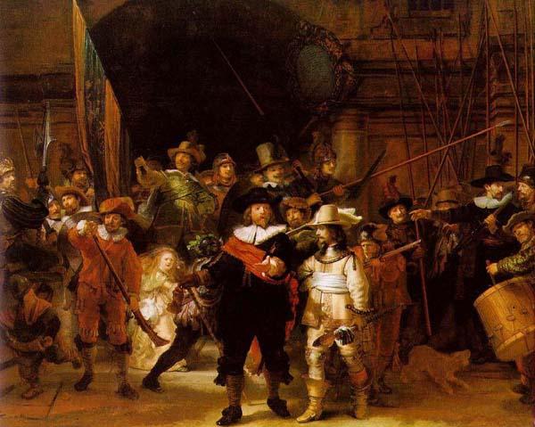 """Рембрандт """"Ночной дозор"""" 1642 год"""