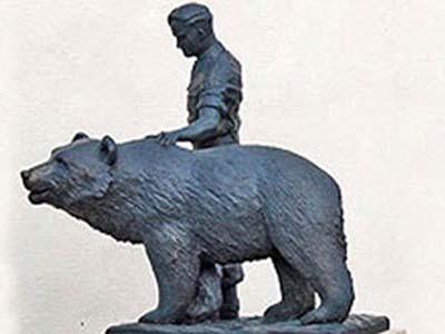 Памятник медведю в Эдинбурге