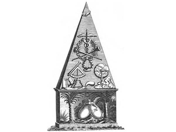 Первый памятник Ломоносову