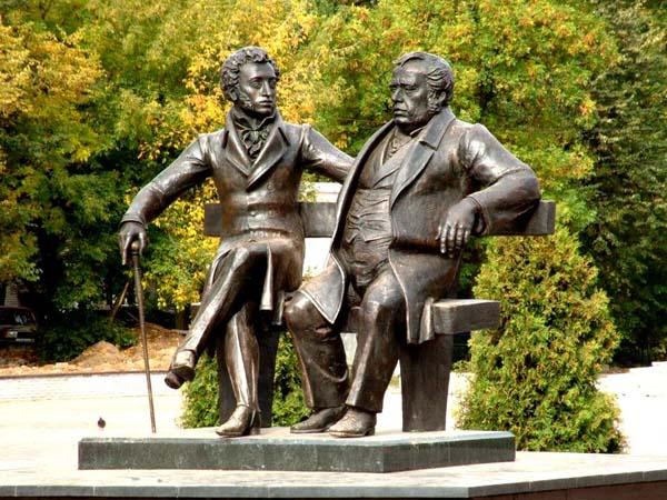 Памятник Пушкину и Крылову (в г.Пушкино)