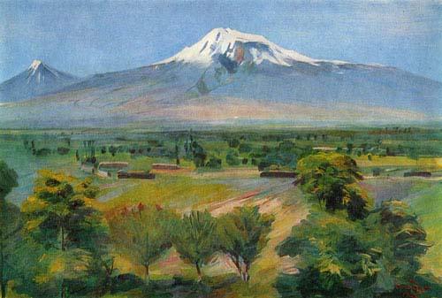 Арарат из Двина - М. Сарьян 1952