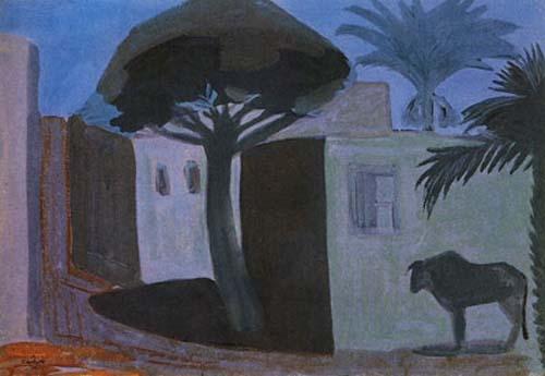 Ночь. Египет (Ночной пейзаж) - М. Сарьян 1911