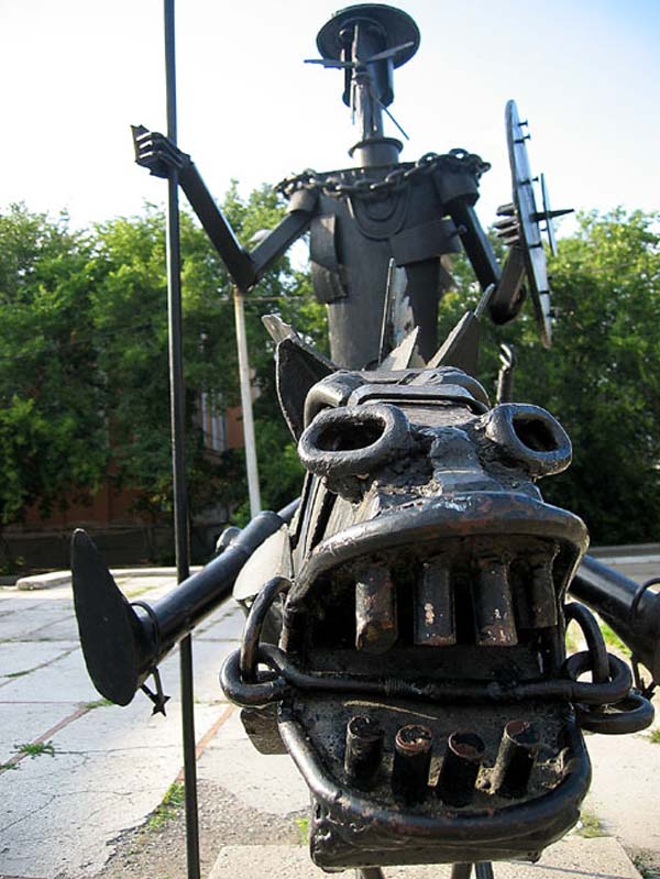 Памятник Дон Кихоту - Омск
