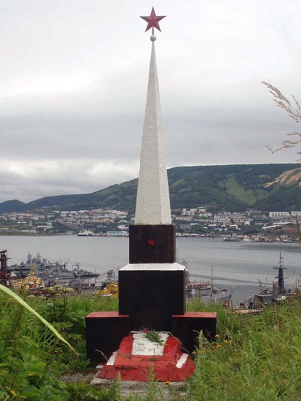 Памятник герою Ильичев П.И. - Камчатка