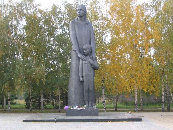 Памятник сибирячке - Омск