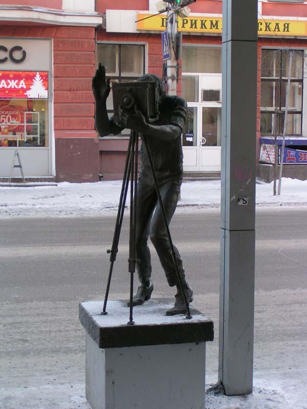 Памятник фотографу - Красноярск