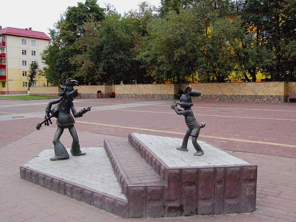 Памятник Ну, погоди - Раменское