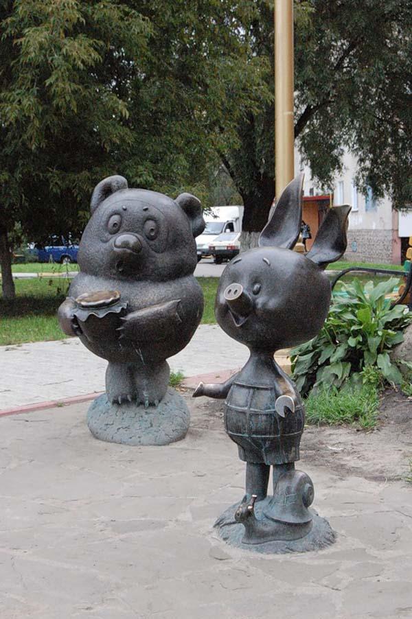 Памятник Винни-Пуху и Пяточку - Раменское