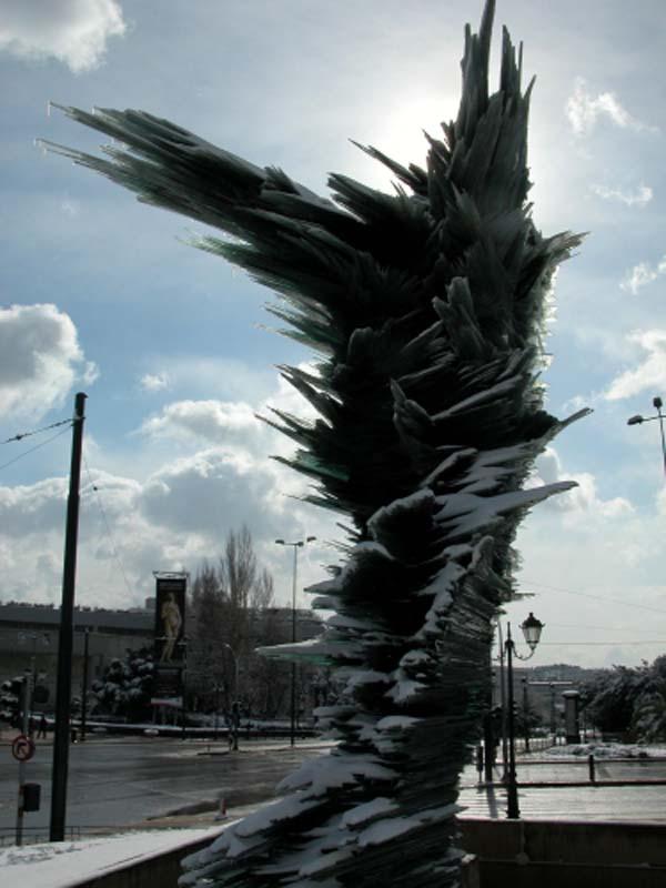 Скульптура бегун - Афины