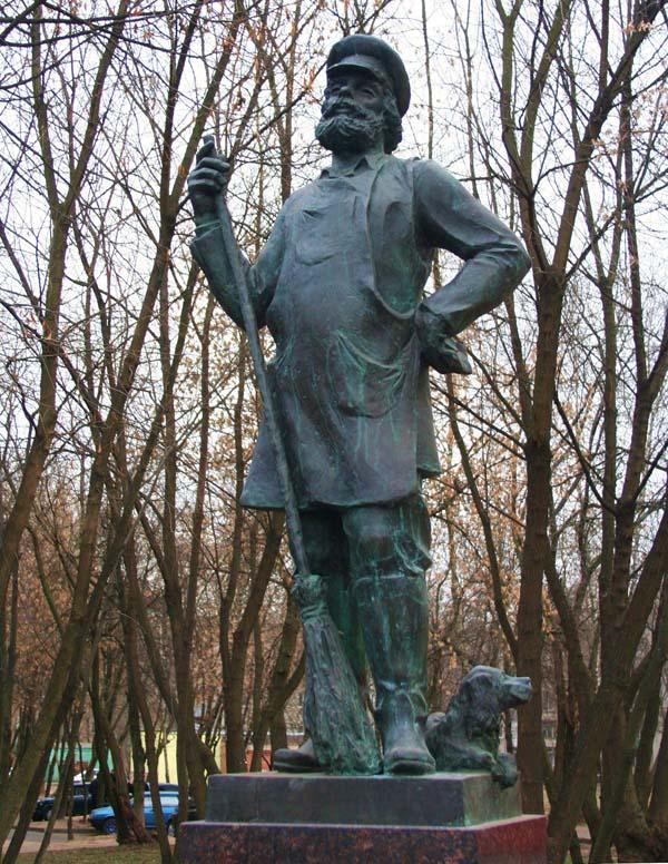 Памятник дворнику - Балашиха