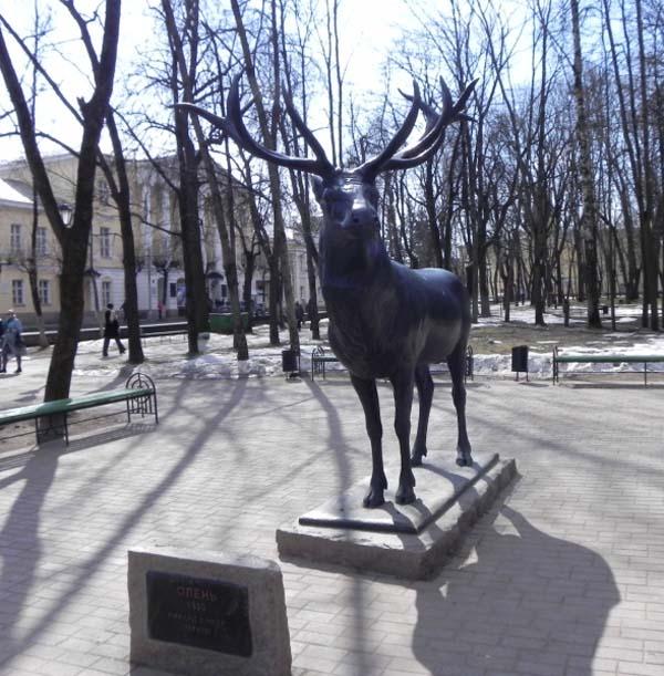 Памятник оленю - Смоленск