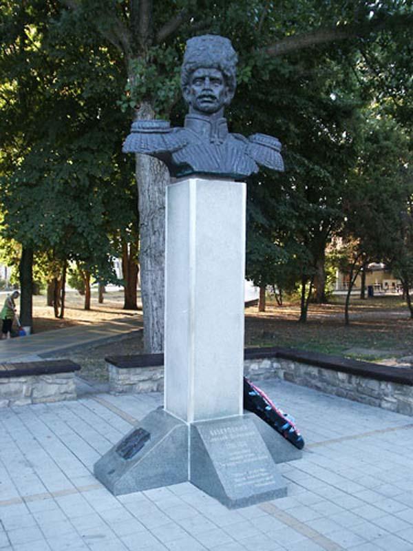 Памятник атаману А.Д. Безкровному - Анапа