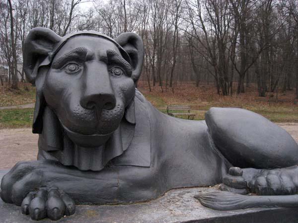 Скульптуры львов в Кузьминках