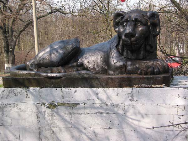 Скульптура льва - Кузьминки (Москва)