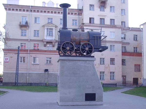 Макет первого паровоза - Екатеринбург