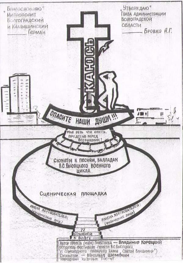 Памятник Высоцкому - Волгоград