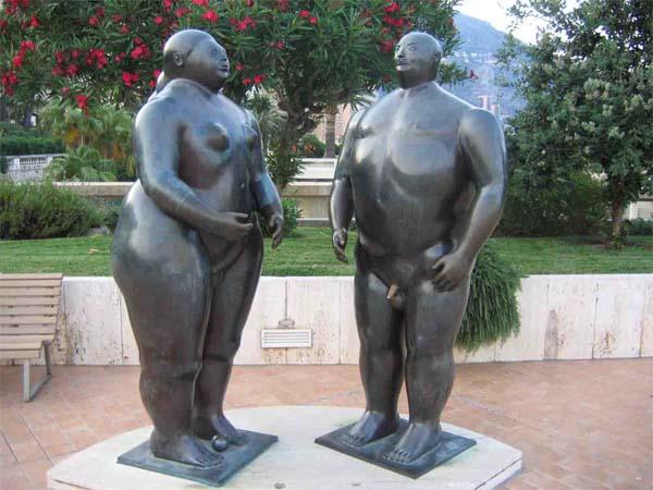 Памятник Адам и Ева в Монте-Карло