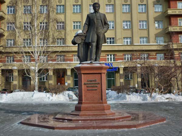 Памятник архитектору Крячкову А.Д. в Новосибирске