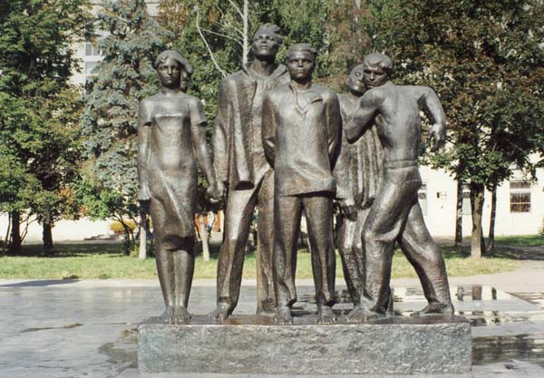 Памятник пяти комсомольцам в Москве