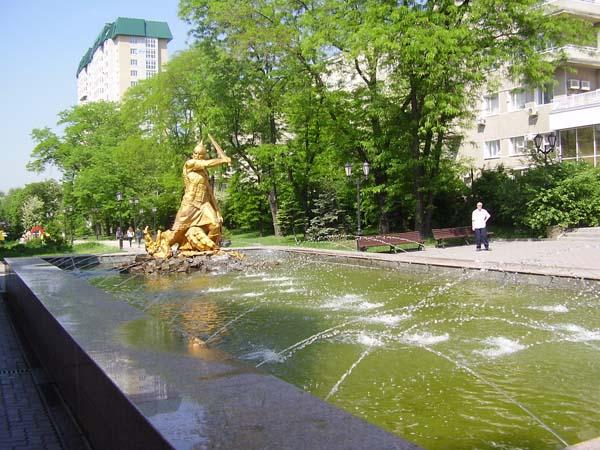Фонтан Богатырь в Ростове-на-Дону