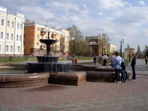 Фонтан у Тарских ворот в Омске