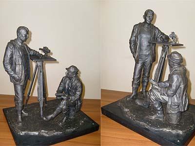 Памятник изыскателям-геодезистам в Иркутске