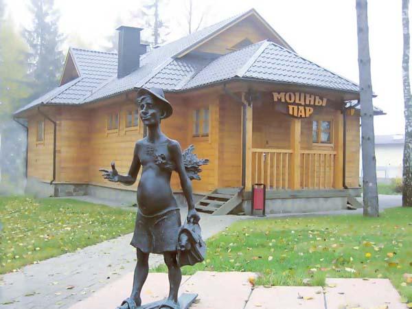 Памятник заядлый парильщик в Минске