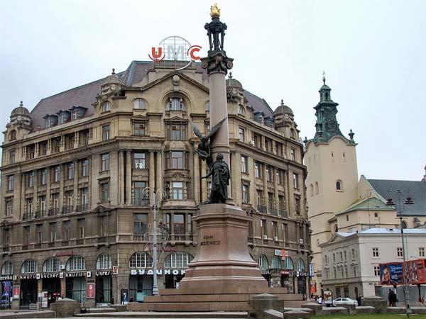 Памятник Мицкевичу во Львове