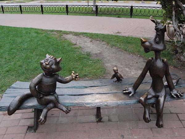 Памятник Трое из Простоквашино в Раменское