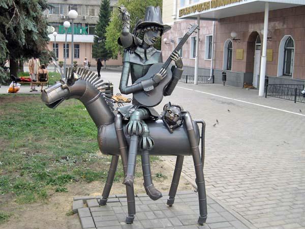 Бременские музыканты – памятник на родине