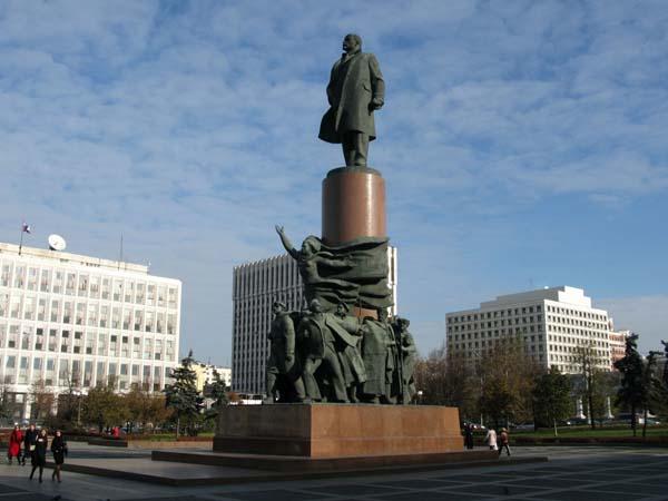 Достопримечательности Калуги. Памятник Ленину