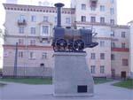 Макет первого паровоза в Екатеринбурге