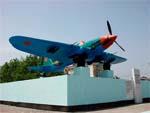 Памятник самолету ИЛ-2 в Новороссийске