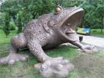 Памятник жабе