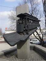 Памятник трамваю в Киеве