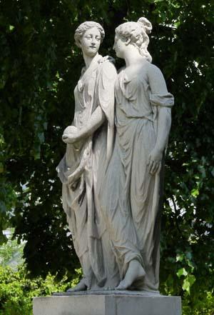 Скульптура Hesperia и Аретуса